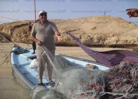 محميات البحر الأحمر تضبط كمية كبيرة من شباك الصيد المخالفة