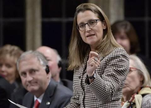"""وزيرة خارجية كندا تزور واشنطن الثلاثاء للتفاوض حول تفاق """"نافتا"""""""
