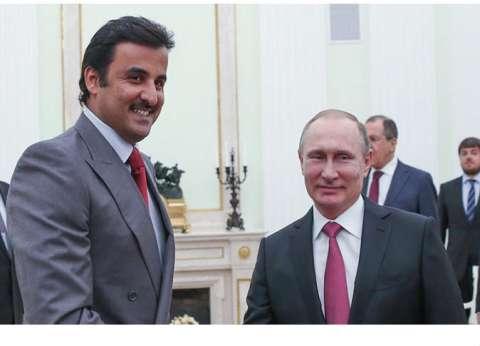 أمير قطر يرسل رسالة خطية للرئيس الروسي فلاديمير بوتين