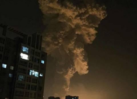 """""""سكاي نيوز """": عدد مصابي انفجار الصين يتراوح من 300 لـ 400"""