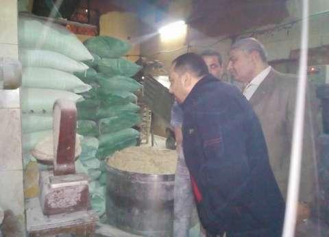 جولة ميدانية لرئيس حي الجمرك بالإسكندرية على المخابز بنطاق الحي