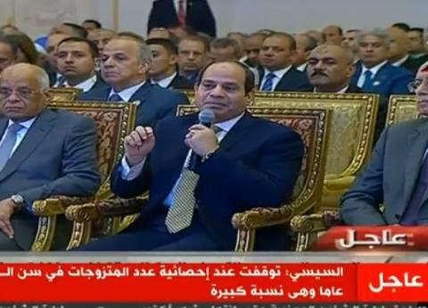 موجز الظهيرة| السيسي يشهد حفل تعداد السكان.. ومد أجل الحكم على مرسي