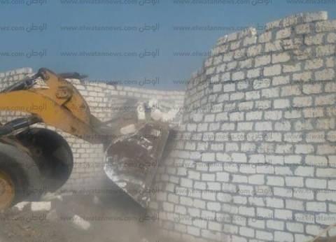 إزالة 15 حالة تعد على أراض زراعية بمركز أبو حمص في البحيرة