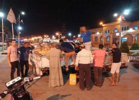 """ضبط سيارة محملة بـ400 لتر زيت طعام """"فاسد"""" في مصيف بلطيم"""