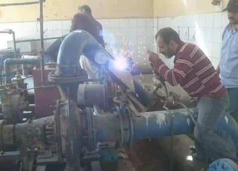 الانتهاء من إصلاح وصيانة طلمبة محطة مياه أبو عارف بالسويس