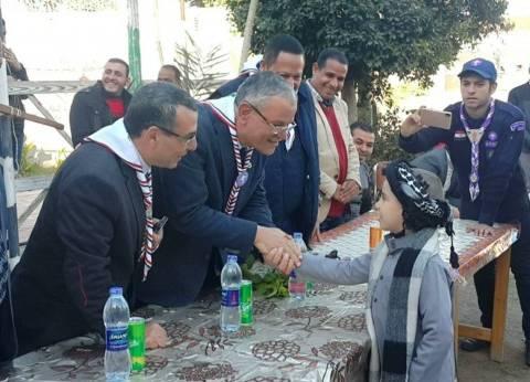 محافظ المنيا يشهد اللقاء الختامي لجمعية الكشافة البحرية المصرية