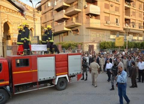 محافظ بني سويف ومدير الأمن يشيعون جنازة شهيد الشرطة بالعريش
