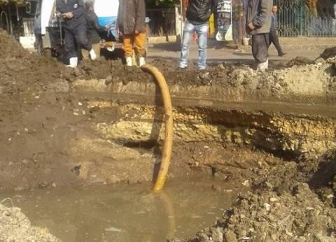 """""""مياه الفيوم"""": انقطاع مياه الشرب انتهى بعد إصلاح كسر في خط 1000 بقرية النزلة"""