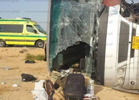 إصابة 4 أشخاص في حادث تصادم ميكروباص وملاكي بكوبري السيدة عائشة