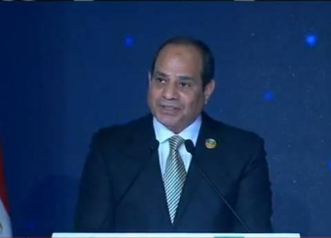 السيسي: مصر تكافح الإرهاب وتتصدى له نيابة عن المنطقة والعالم بأسره