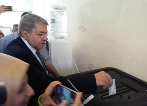 بالصور| وزير المالية: المشاركة في الانتخابات واجب على كل مواطن