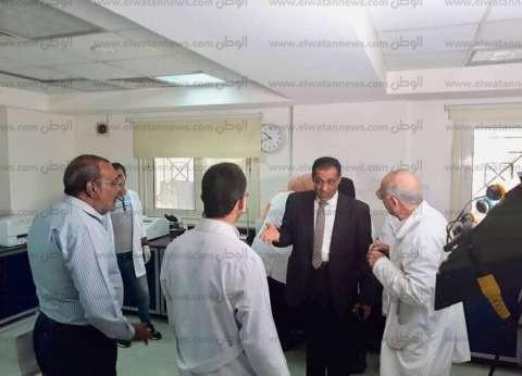 وكيل وزارة الصحة يتفقد الوحدة الصحية بقرية الروضة