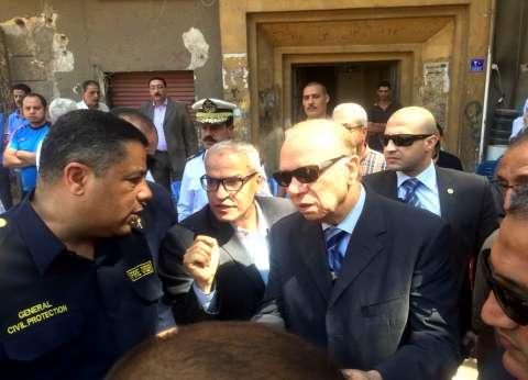 محافظ القاهرة يشكل لجنة لمعاينة عقار حريق جوهر القائد