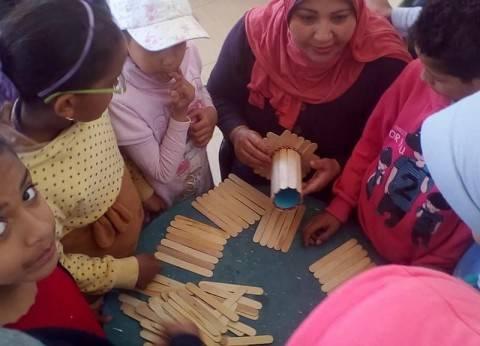 """""""رسم على الزجاج"""" و""""تنمية مهارات الأطفال"""" بإقليم جنوب الصعيد الثقافي"""