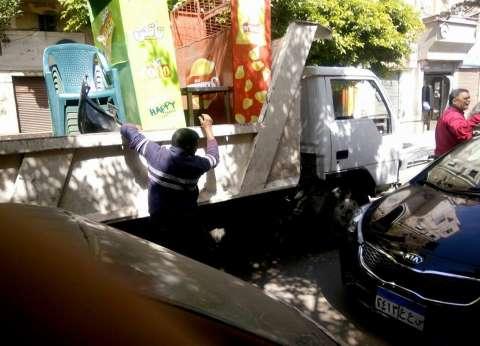 حملة على أسواق وسط الإسكندرية لإزالة التعديات والإشغالات