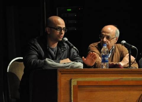 """بالصور  مناقشة """"الفيل الأزرق"""" بحضور مروان حامد وأحمد مراد في ساقية """"الصاوي"""""""