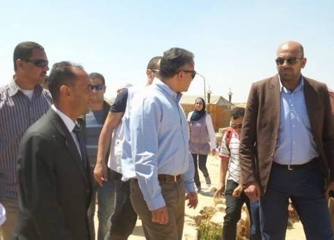 وزير الآثار يشدد على سرعة علاج مشكلة المياه الجوفية بمنطقة آثار أبومينا