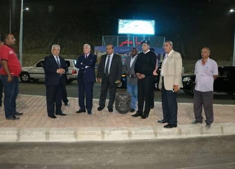 بالصور| محافظ جنوب سيناء يتفقد أعمال تطوير مدخل الهضبة بشرم الشيخ