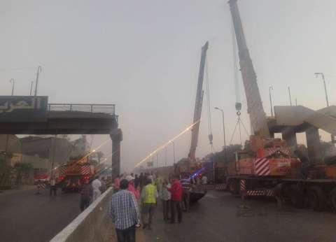انتظام حركة المرور على طريق إسكندرية الزراعي بعد رفع كوبري ميت حلفا