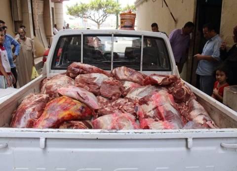 بالأرقام| تفاصيل 13 ضبطية للحوم خارج المجازر الحكومية بالجيزة