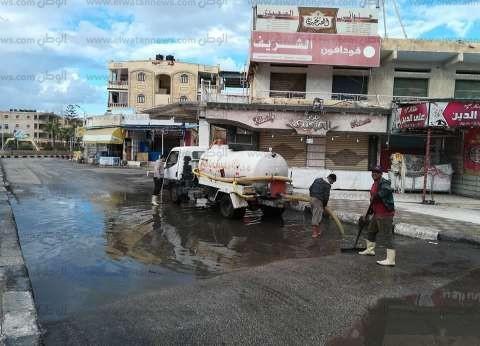 بالصور| أمطار غزيرة في كفر الشيخ.. والمحليات تدفع بسيارات لشفط المياه