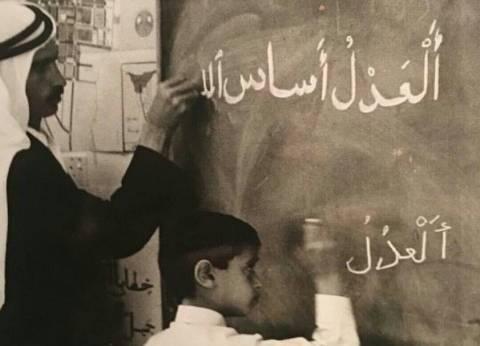 """حاكم دبي ينشر صورة نادرة لولي عهد أبوظبي على """"تويتر"""""""