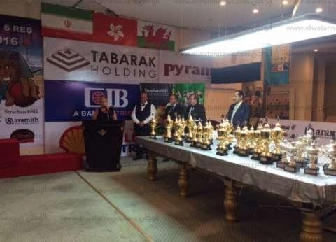 بالصور| وزير السياحة يشهد تسليم جوائز بطولة العالم للسنوكر بشرم الشيخ
