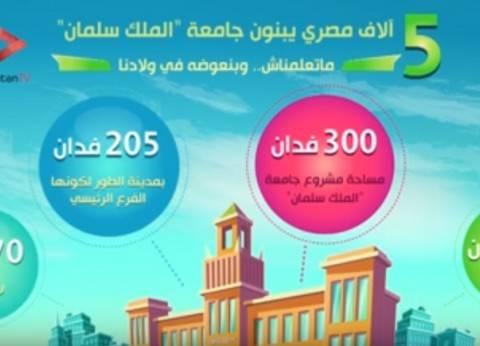 """بالفيديو جراف.. تعرف على مشروع جامعة """"الملك سلمان"""" بطور سيناء: العلم بيكمل الصورة"""