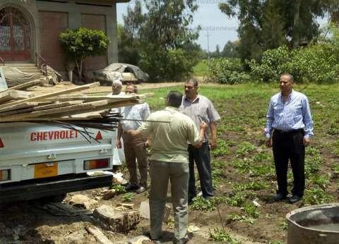 """""""أمن كفر الشيخ"""" ينفذ 9 قرارات إزالة على الأراضي الزراعية وأملاك الدولة"""
