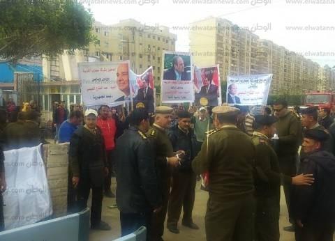 بالصور| مسيرة عمالية في ستاد طنطا لتأييد السيسي في الانتخابات الرئاسية