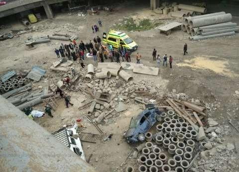 إصابة ضابط وطالب في حادث انقلاب سيارة بطريق الكريمات