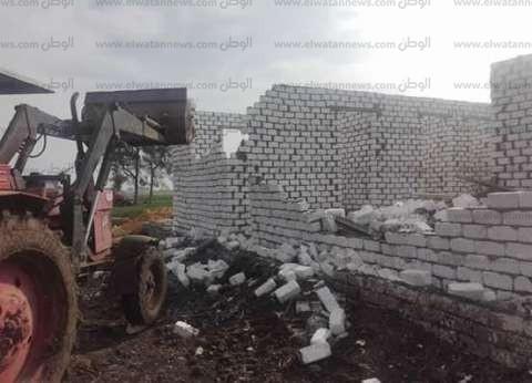 أمن كفر الشيخ ينفذ 36 قرار إزالة على أملاك الدولة والأراضي الزراعية