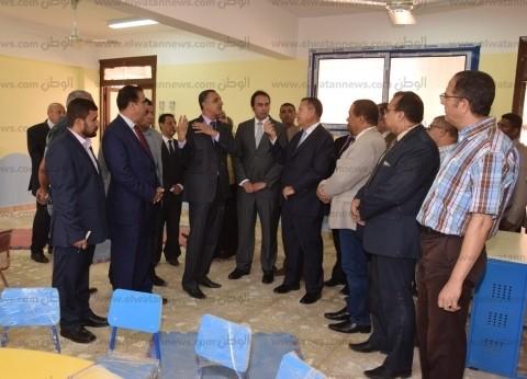 محافظ بني سويف ونائب وزير التعليم يفتتحان المدرسة اليابانية ببني سويف