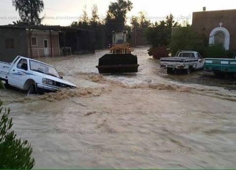 ارتفاع منسوب المياه بترع البحيرة.. وتوقف لوحة تحكم الكهرباء في حوش عيسى