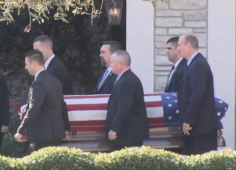 بالفيديو| مراسم جنازة الرئيس الأمريكي جورج بوش الأب