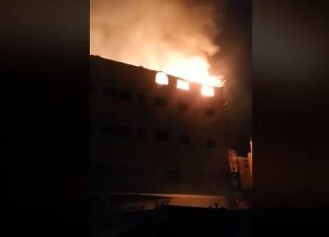 السيطرة على حريق بحظيرة دواجن أعلى عقار سكني في الفيوم