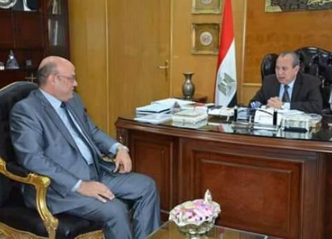 محافظ دمياط يجتمع مع أعضاء مجلس إدارة بنك مصر