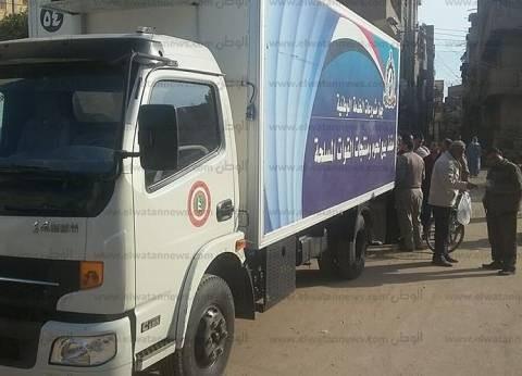 بالصور| القوات المسلحة تدفع بسيارة لبيع السلع الغذائية بأسعار مخفضة في بيلا