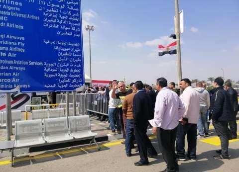 إقبال على لجان مطار القاهرة في ثالث أيام الاستفتاء