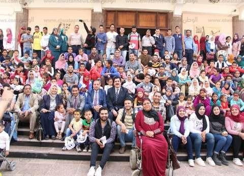 """جامعة بني سويف تحتفل بـ""""يوم اليتيم"""" في حضور 300 طفل"""