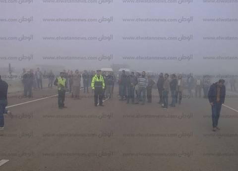 """""""مرور بورسعيد"""" يحذر المسافرين من الشبورة المائية على الطرق"""