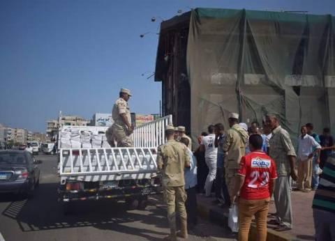 القوات المسلحة توزع كراتين مواد غذائية لأهالي الغردقة