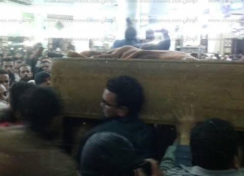 تشييع جثامين 11 لقوا حتفهم في حادث تصادم بالمنيا