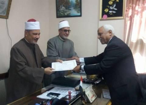 رئيس منطقة المنيا الأزهرية يكرم إدارة الجودة وأعضاء الدعم الفني