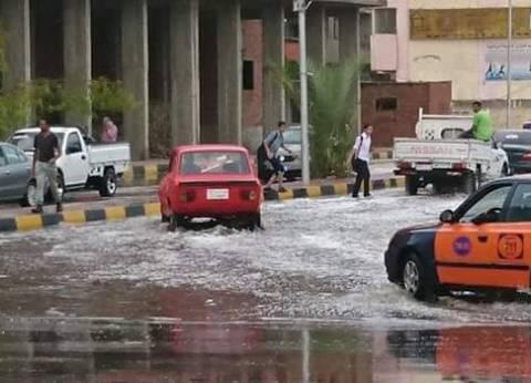 شوارع الغردقة تغرق في مياه الأمطار