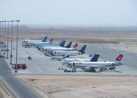 """عودة الحركة الجوية بمطار مرسى علم بعد """"معالجة أسطح الممرات"""""""