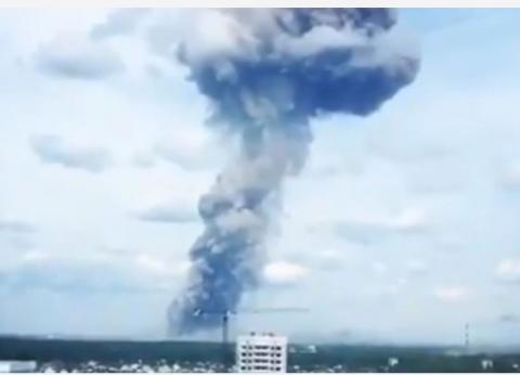 عاجل  19 مصاب في انفجار مصنع للذخيرة وسط روسيا