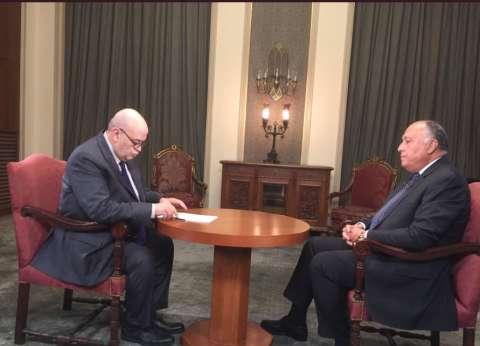 """وزير الخارجية ضيف الإعلامي عماد الدين أديب على قناة """"الحياة"""" الليلة"""