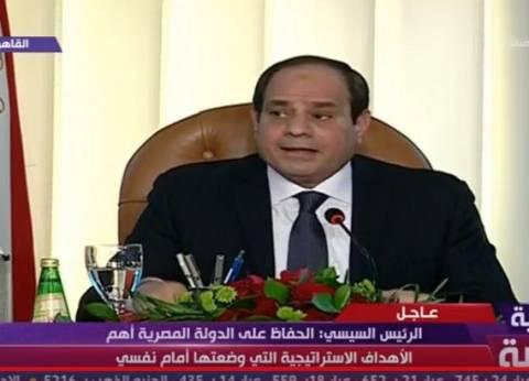 السيسي للمصريين: انظروا إلى التجربة المصرية سياسيا