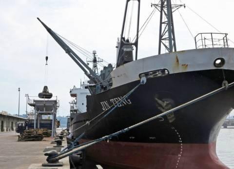 25 سفينة إجمالي الحركة بموانئ محافظة بورسعيد